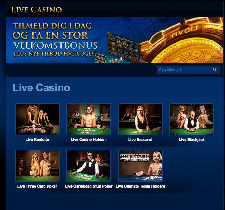 Live Casino Tivoli