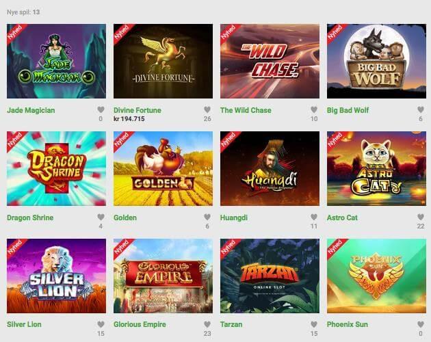 Populaere spil Unibet Casino