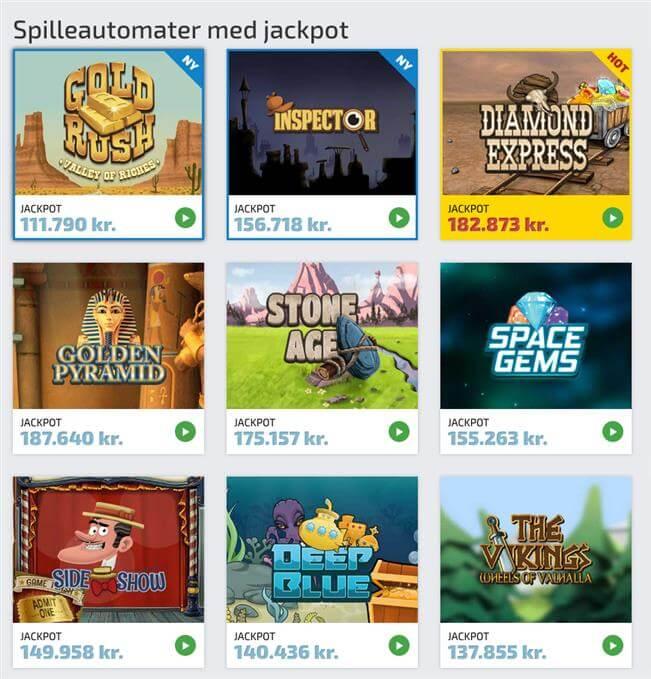 Spilleautomater med jackpot hos Spilnu