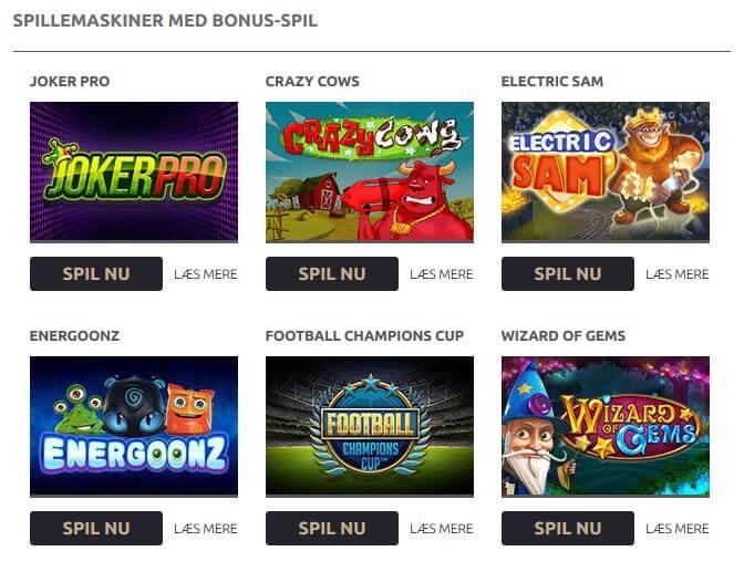 Spillemaskiner med bonus-spil