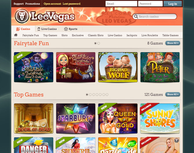 Top games Leo casino