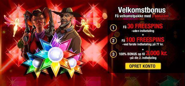 777 casino bonus: 200 free spins og 3000 kr