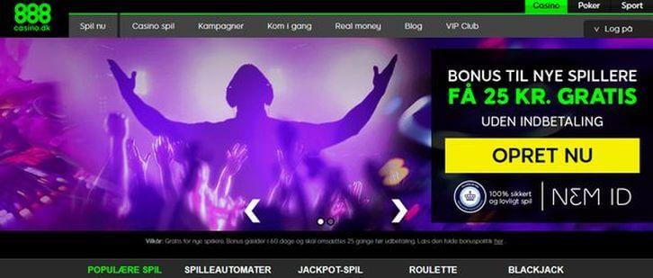888 Casino main page