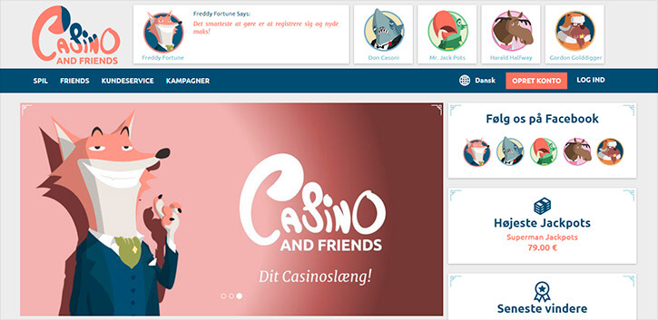 Casino And Friends main page