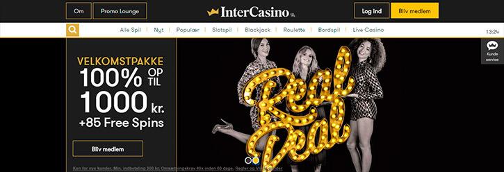 InterCasino main page