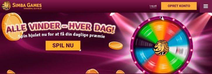 SimbaGames main page