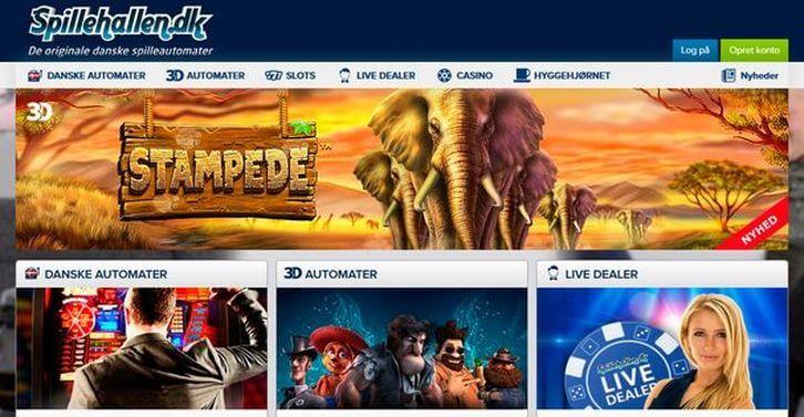 Spillehallen main page