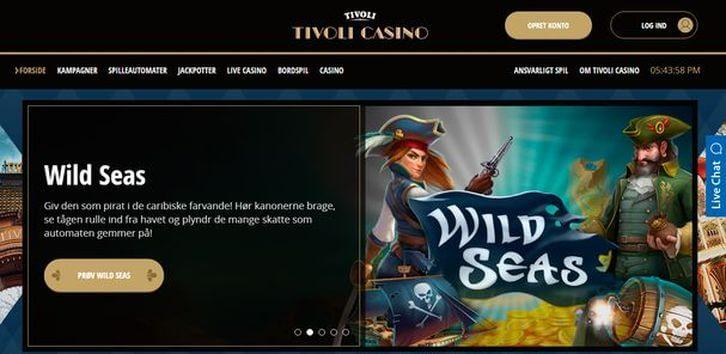 Tivoli Casino main page