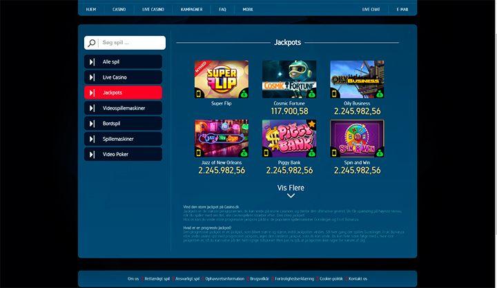 Casino.dk jackpots