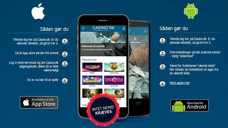 Casino.dk mobil app