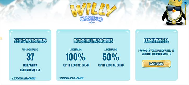Willy Casino velkomstbonus