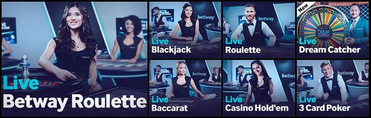 Betway live dealer