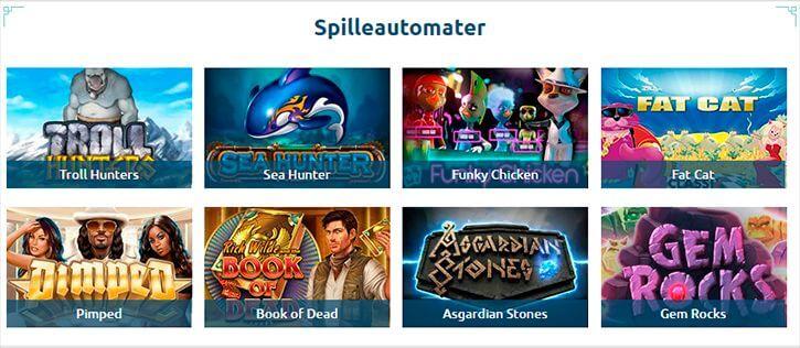 Casinoandfriends.dk spilleautomater