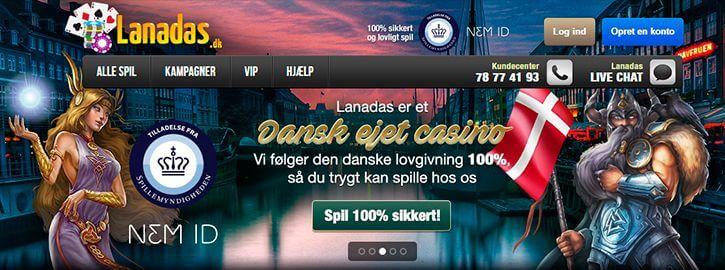 Lanadas Casino main page