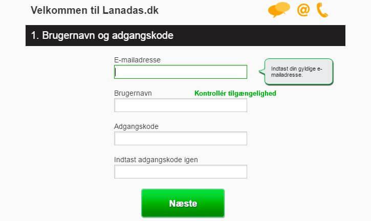 Lanadas Casino opret konto