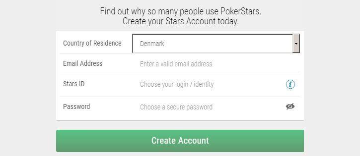 Pokerstars Casino opret konto