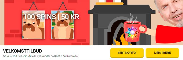 Rød25 Casino bonus