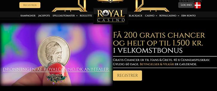RoyalCasino main page