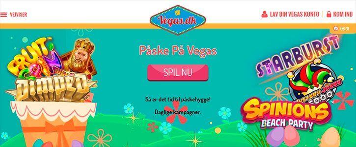 Vegas Casino main page